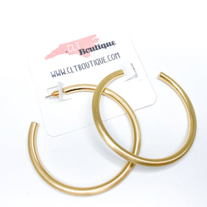 Jessie Gold Tube Hoops - CLT Boutique