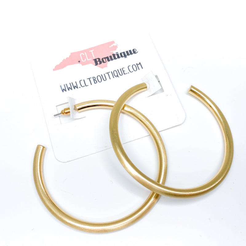 Jessie Gold Tube Hoops