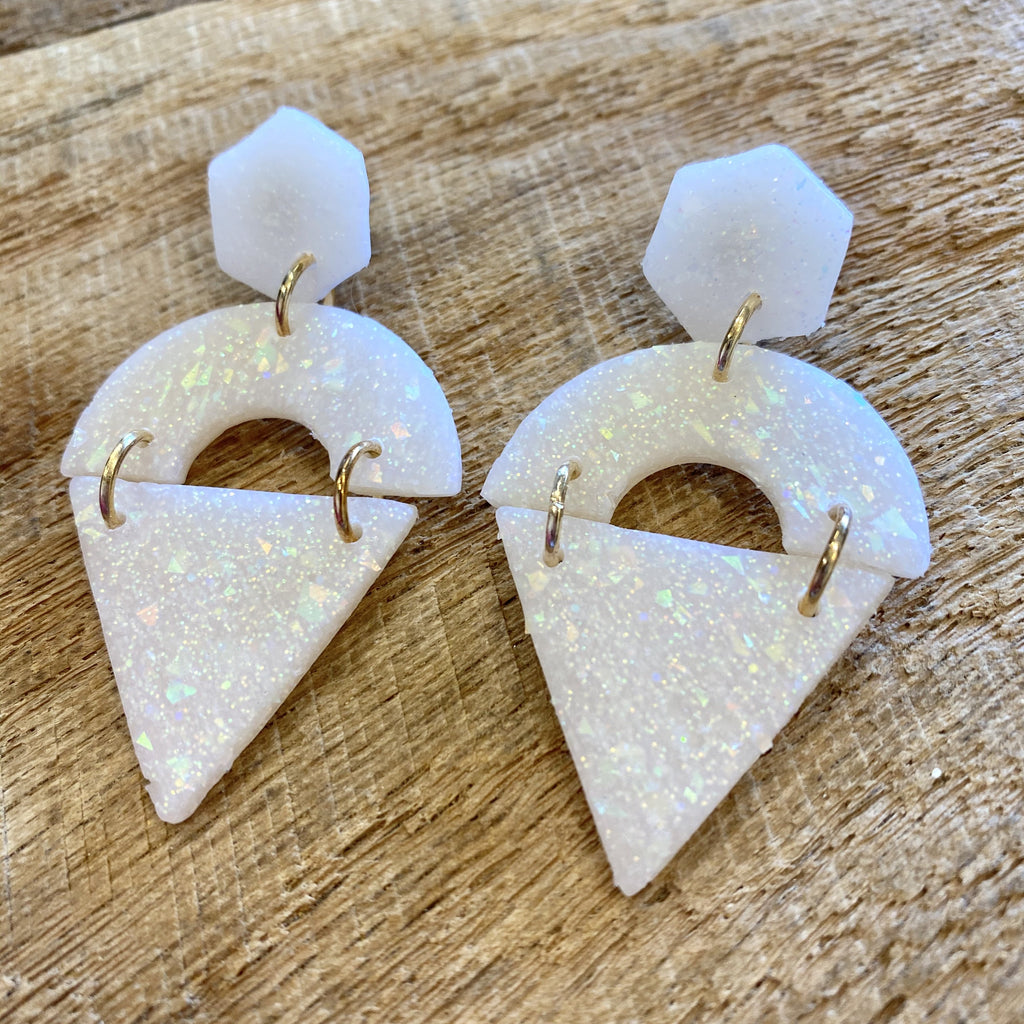 Opal Ava Clay Earrings - CLT Boutique