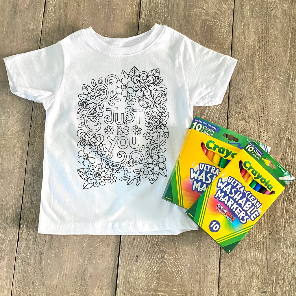 Just Be You Coloring Shirt