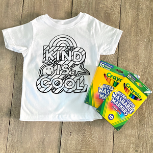 Kind is Cool Coloring Shirt - CLT Boutique