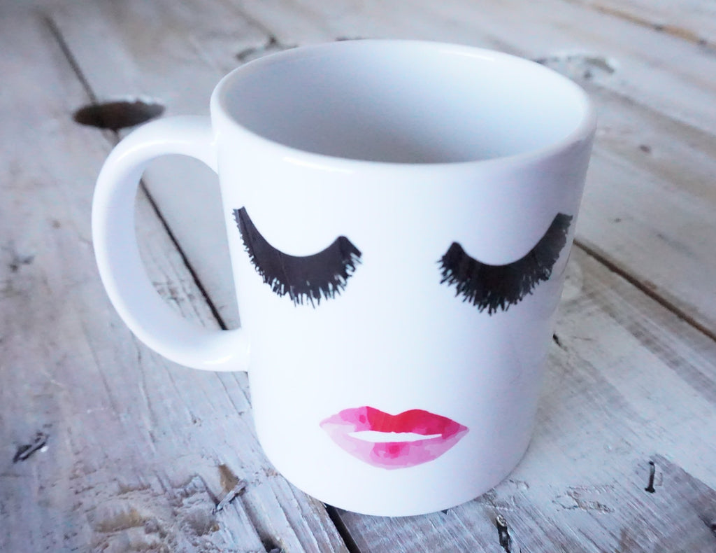 Lips and Lashes Mug