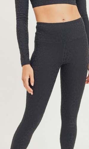The Victoria Leopard Jacquard Highwaist Leggings