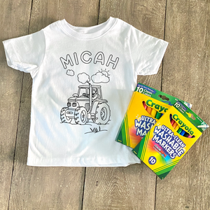 Tractor Coloring Shirt - CLT Boutique