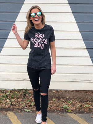 Queen City Mineral Wash Tee