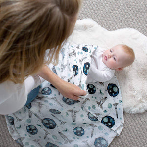 Space Oh-So-Soft Muslin Single Swaddle Blanket - CLT Boutique