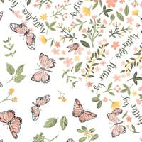 Butterfly + Flutterby Oh-So-Soft Muslin Burp Cloths