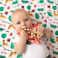 Tropical Leaf Natural Wooden Teether
