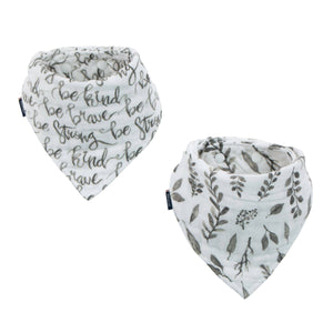 Just Be & Leaves Classic Muslin Bandana Bib Set - CLT Boutique