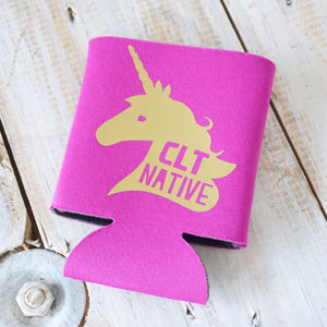 Charlotte Native Unicorn Koozie