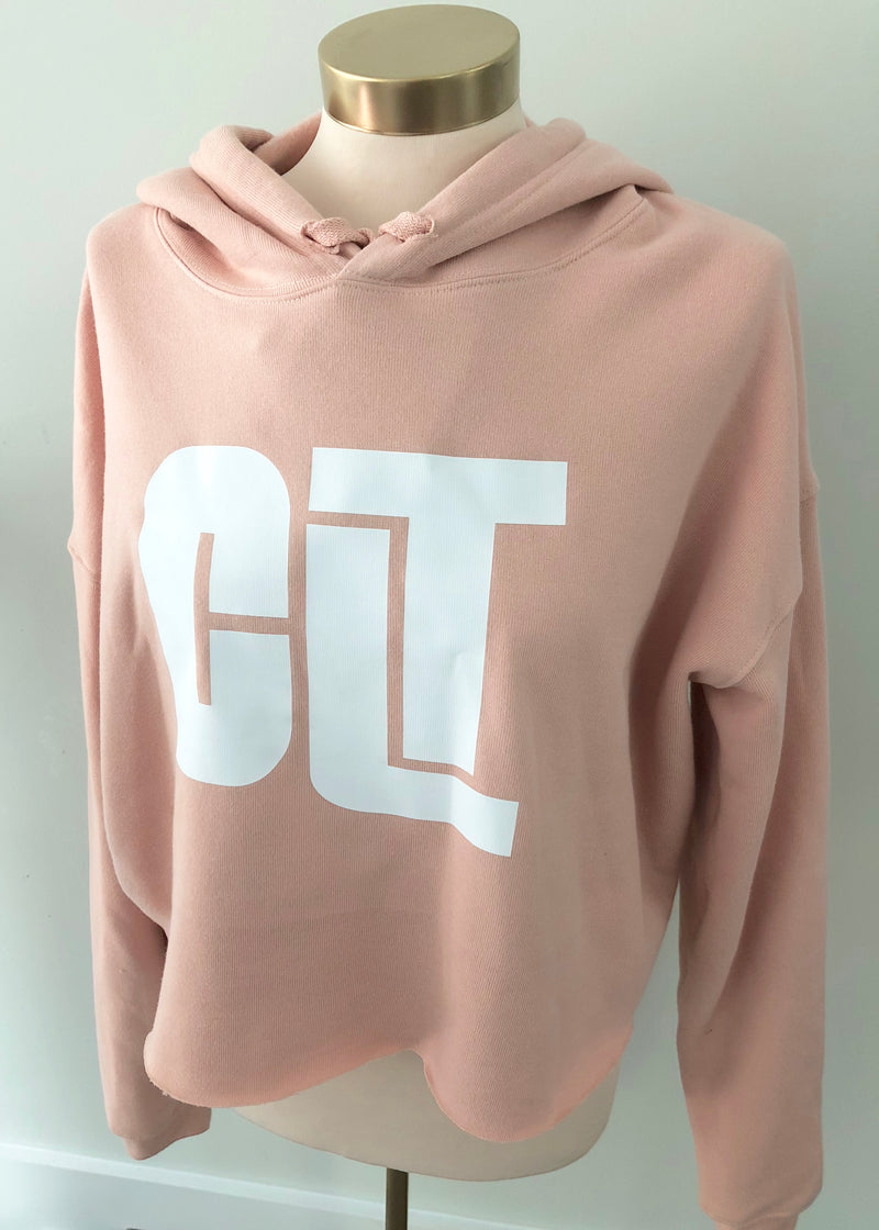 CLT Cropped Fleece Hoodie - CLT Boutique