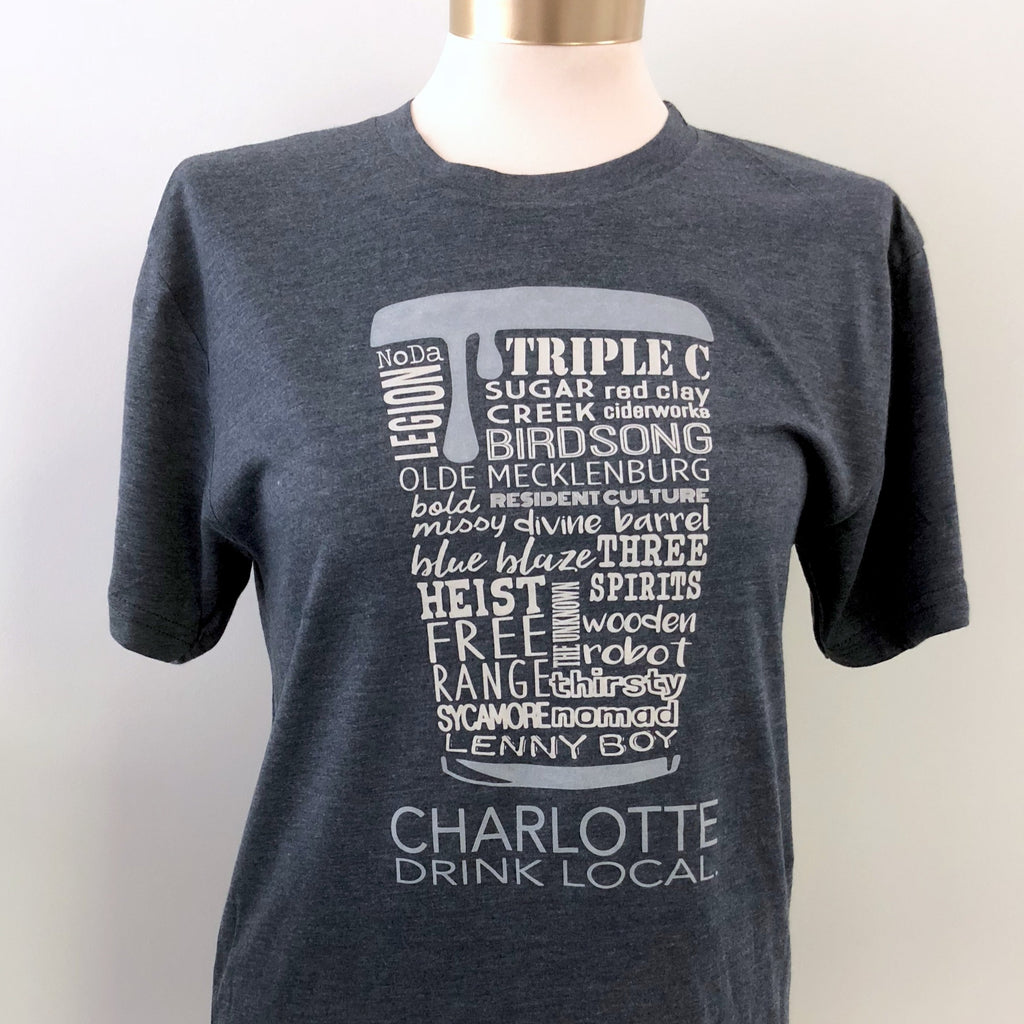 Charlotte Drink Local Beer Tee (Unisex) - CLT Boutique