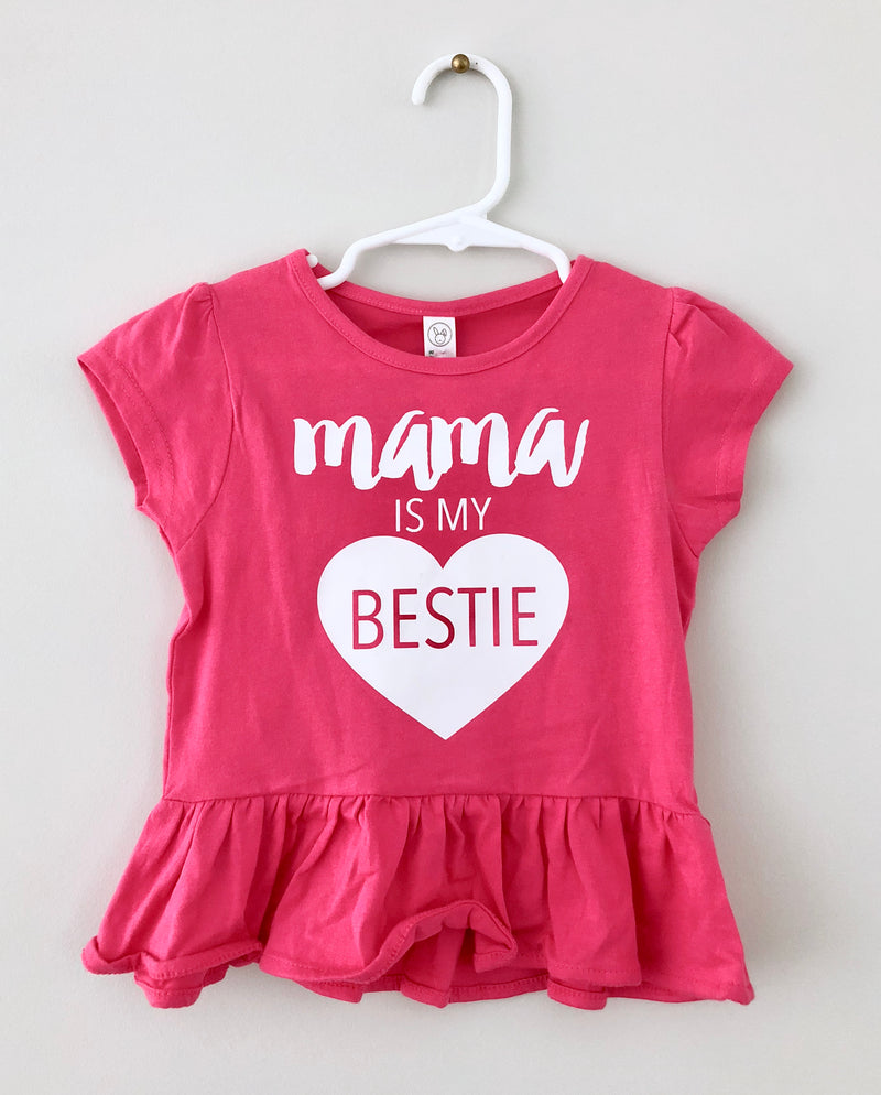 Mama is my Bestie Peplum Shirt - CLT Boutique