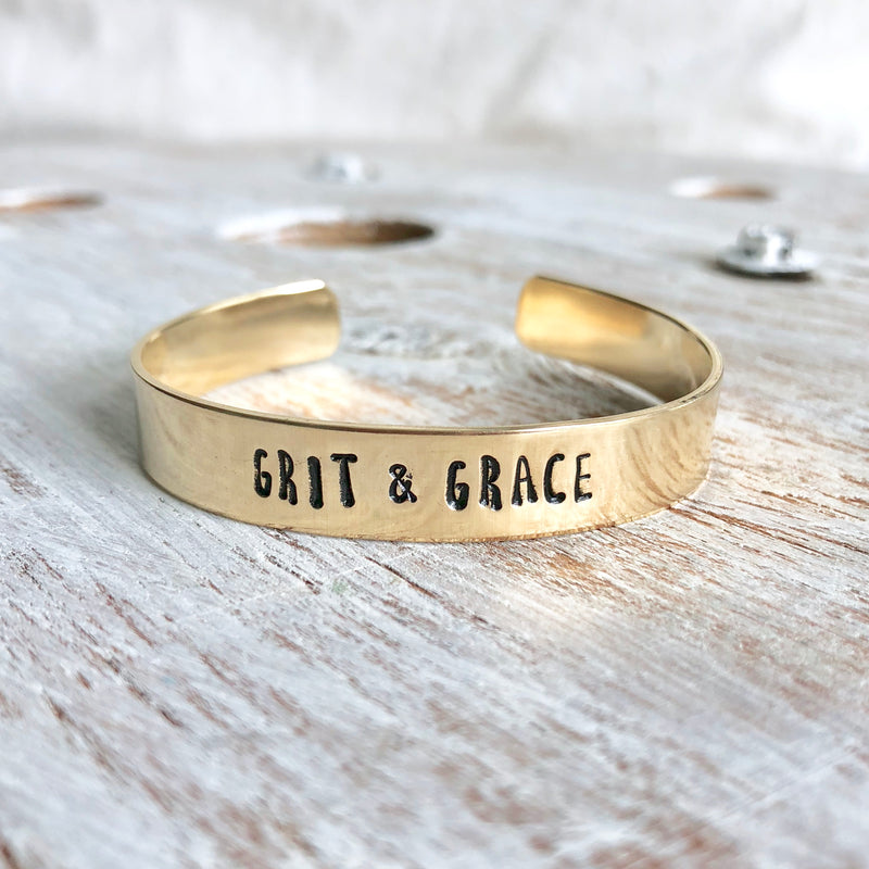 Grit & Grace Hand Stamped Bangle