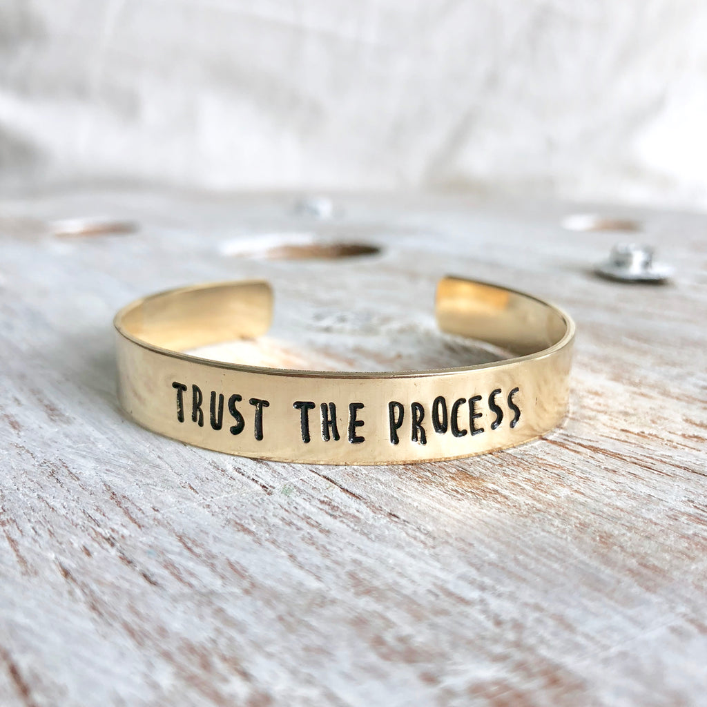 Trust the Process Hand Stamped Bangle