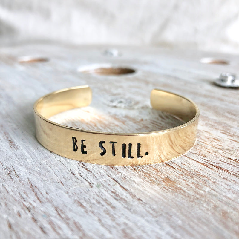Be Still Hand Stamped Bangle - CLT Boutique