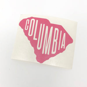 columbia, columbia sc, vinyl sticker, south carolina, sticker