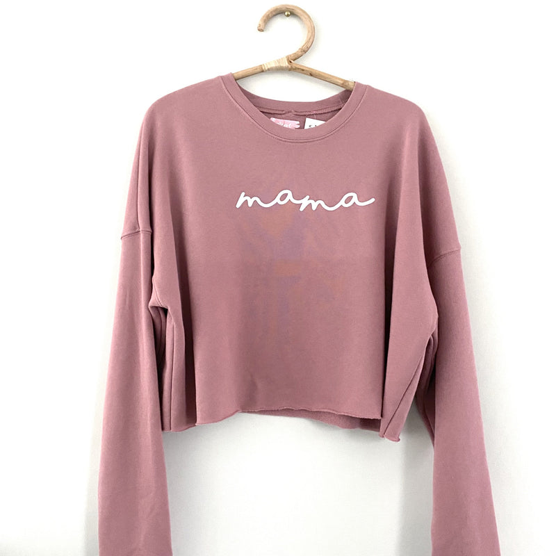 Mama Cropped Sweatshirt