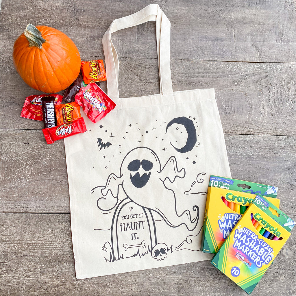 Ghost Halloween Coloring Bag