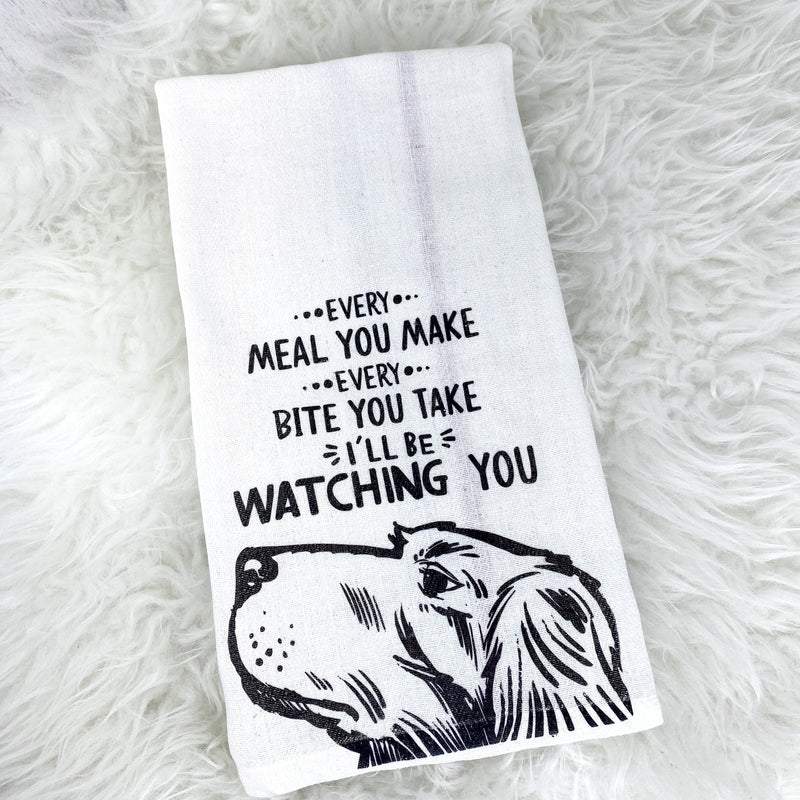 Stalker Dog Tea Towel