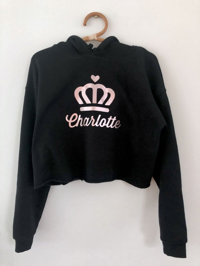 Queen Charlotte Cropped Fleece Hoodie - CLT Boutique