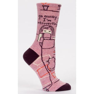 Go Away I'm Introverting Socks - CLT Boutique