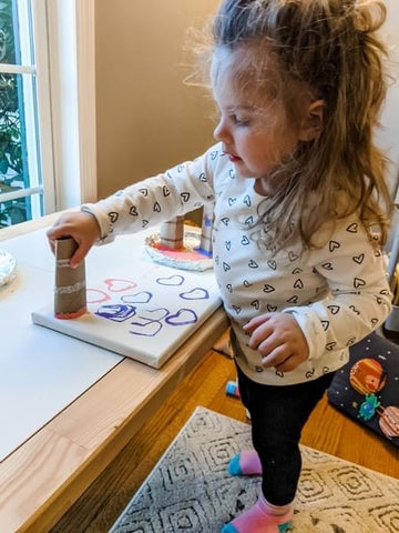 painting Valentine's Day craft