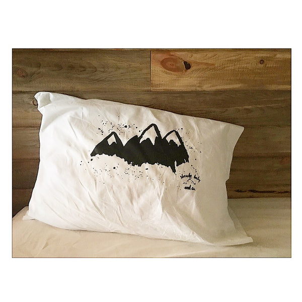 Mountain pillow cases