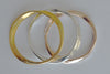3 hammered bangle bracelets