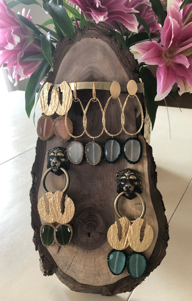 Wooden Jewelry display (without the earrings)