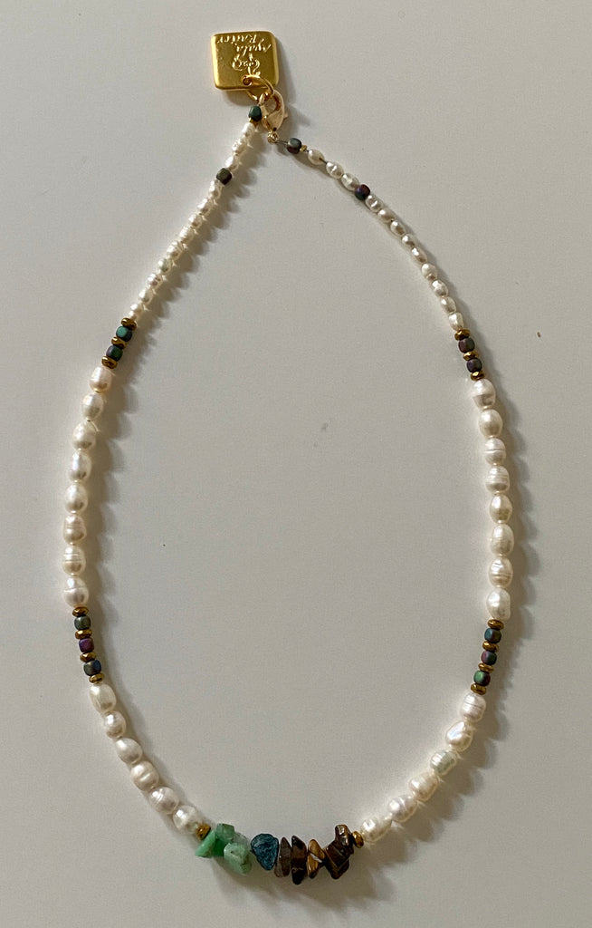 Pearls and Gems choker