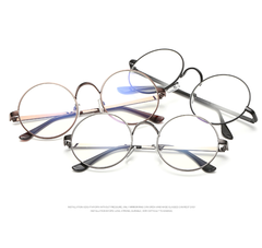 Round Clear Frames - 4 Color Options