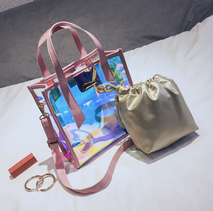 Nora NYC Ladies Transparent Handbag