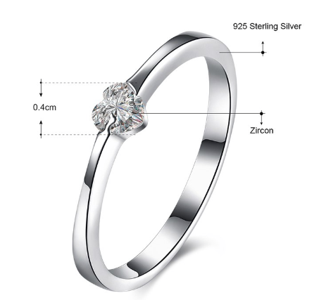 Nora NYC 925 Sterling Silver Solitaire Ring