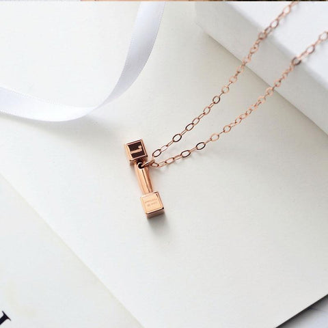 Dumbbell Necklace Fashion Stainless Steel Jewelry for Woman or Man