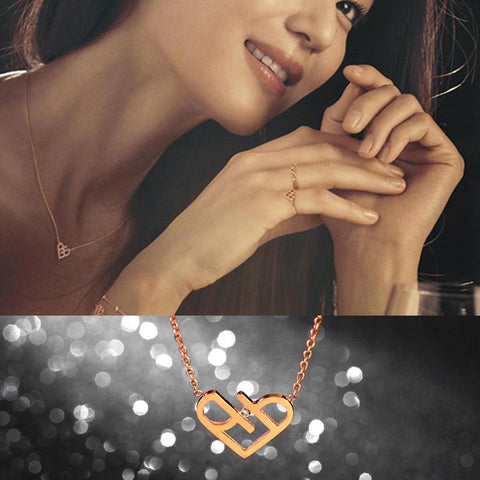 Elegant Zircon CZ Heart Pendant Necklace Woman Stainless Steel Jewelry High Polish