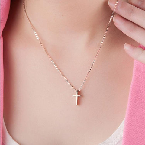 Cross Pendant Necklace Stainless Steel Cross Jewelry High Polish