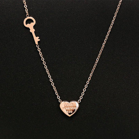 Heart Pendant Necklace Stainless Steel