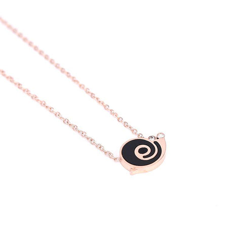 Shell CZ Snail Pendant Necklace for Woman Stainless Steel Jewelry