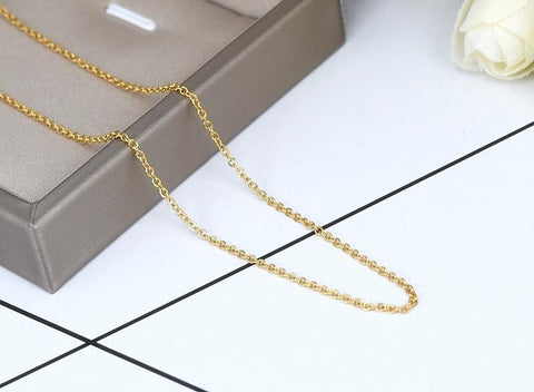 Single Choker Necklace - Stainless Steel Simple Choker