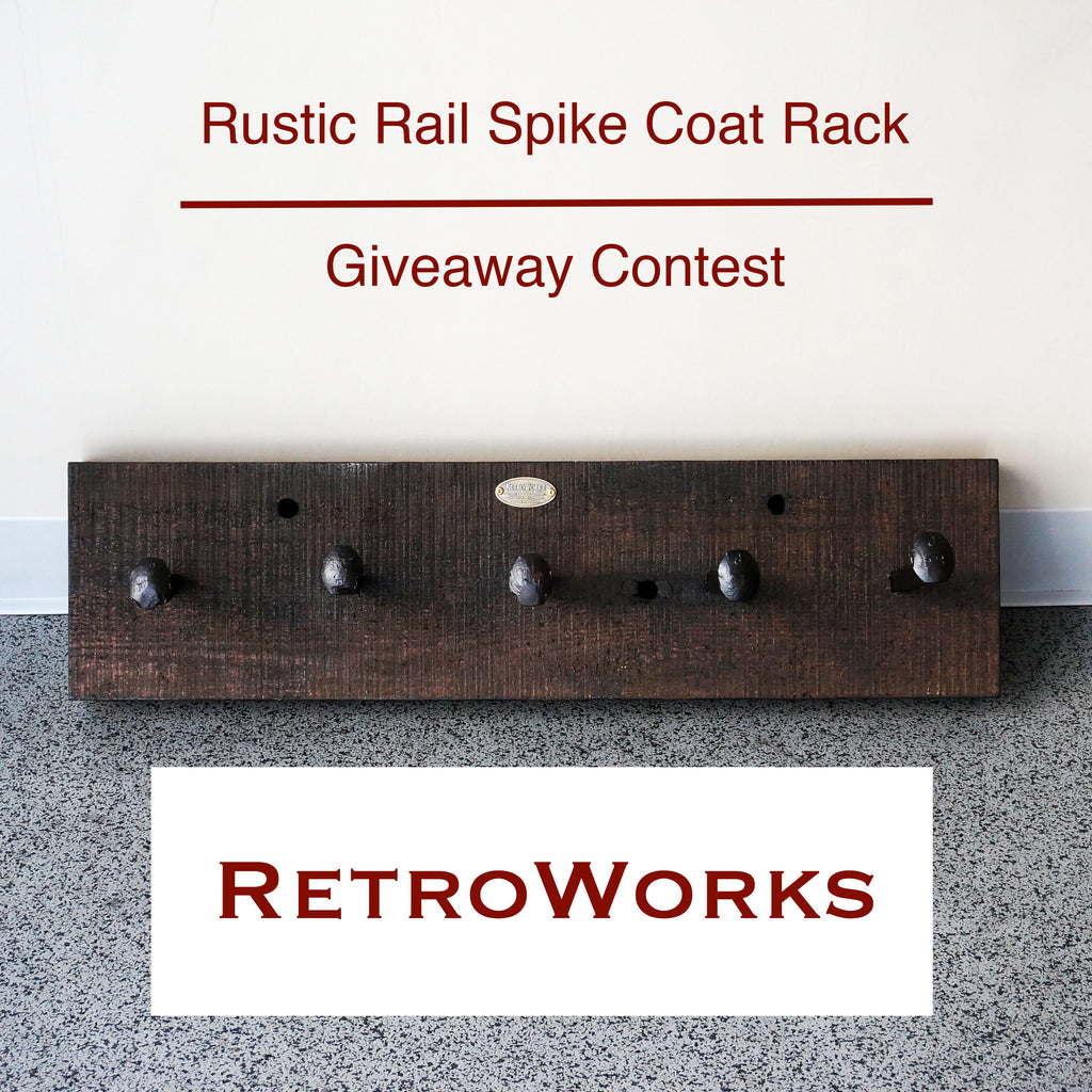 RetroWorks Rustic Rail Spike Coat Rack - Our First Giveaway