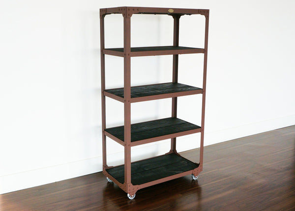 best brown industrial shelf on wheels online