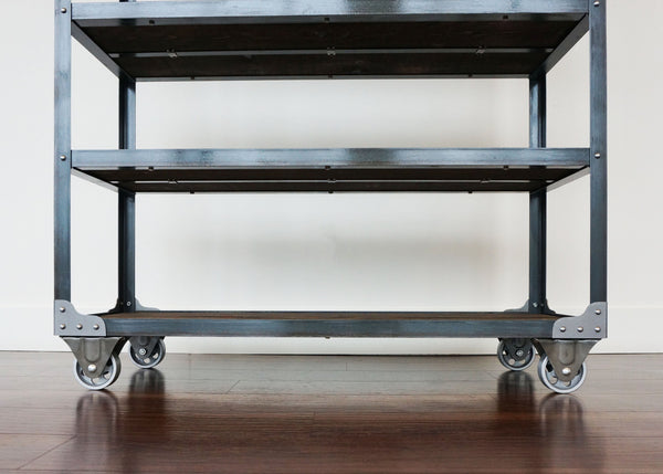 best industrial merchandise display shelf on wheels