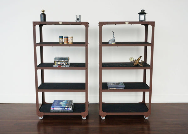 best matching steel and wood industrial style shelves