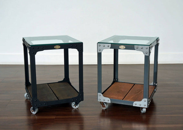 Industrial End Table Custom Color