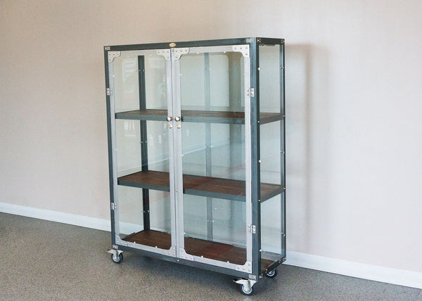 Industrial Glass Display - The New England Glass Medical Cabinet