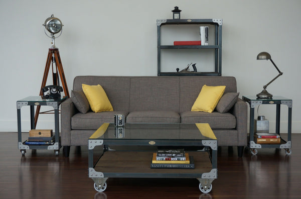 matching industrial furniture living room set
