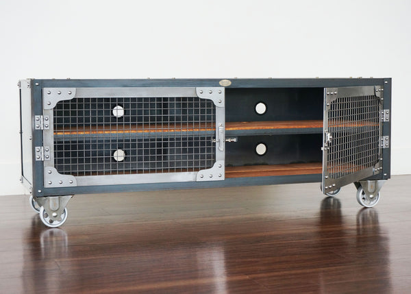Industrial Media Console - Brooklyn Telegraph Table