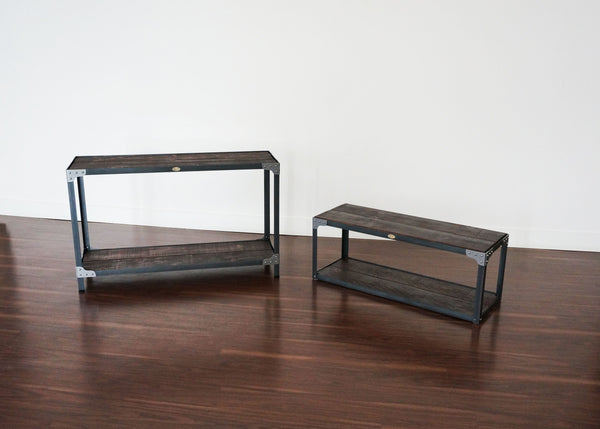 best matching industrial console table and bench Toronto online