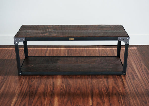 best matching handmade industrial hallway console table and bench Ottawa online